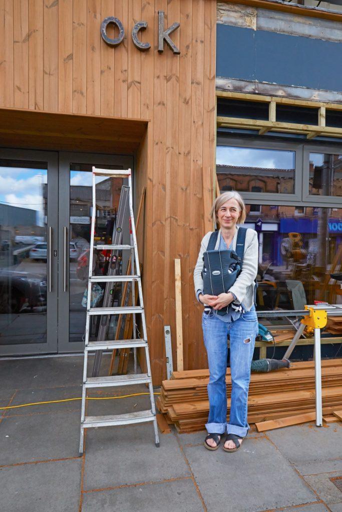 Woodstock Cafe shopfront makeover Phibsboro Dublin