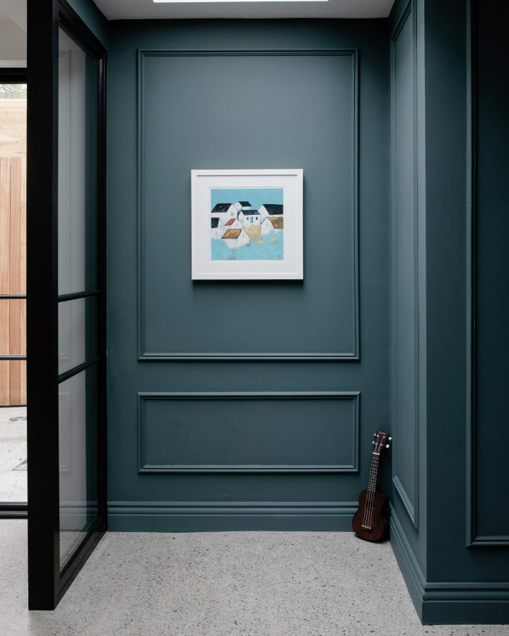 Deep grey Blue wall colour