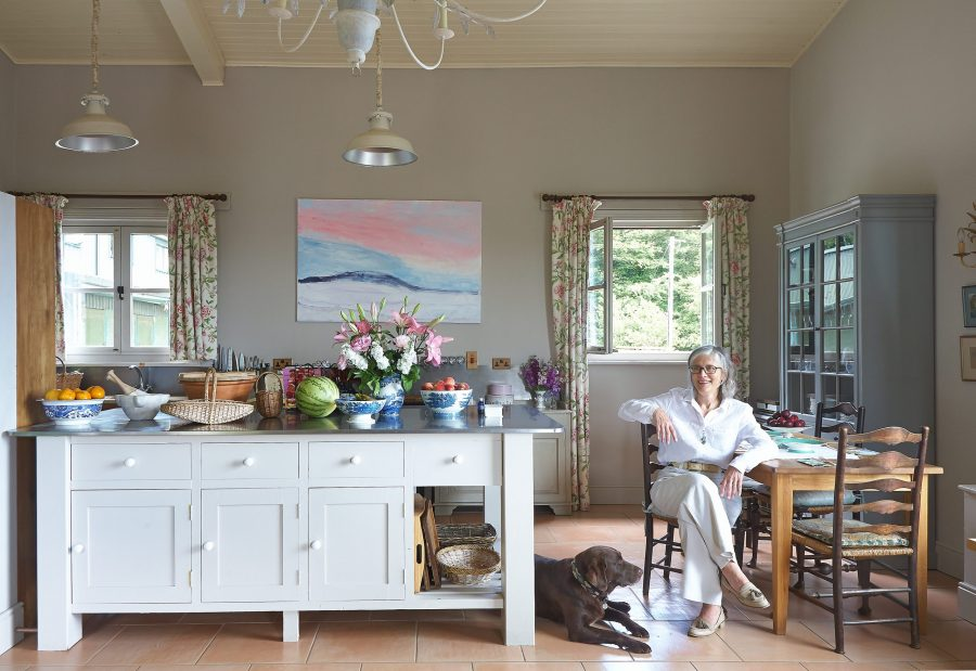 Artist Claudia Roche in her converted stable home.