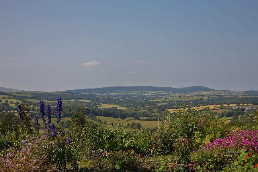Garden overlooking landscape Carlow Wicklow