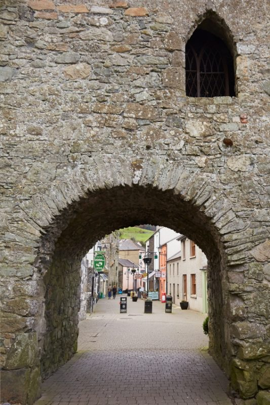 The old Tholsel Gate in Carlingford