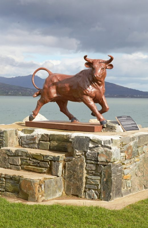 The Bull of Cooley Sculpture in Carlingford