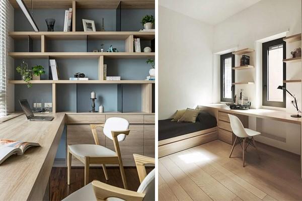 Home Office Calm and Neutral colour scheme