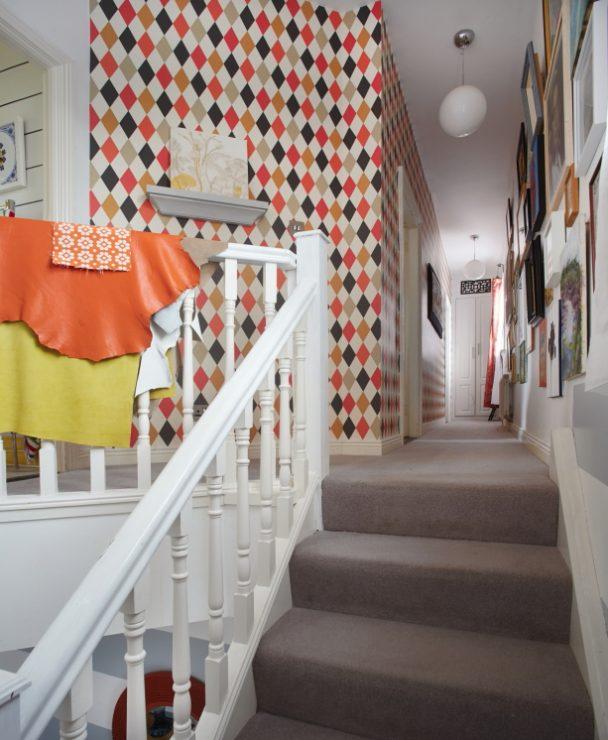 long colourful corridor