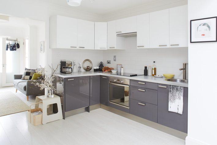 Scandinavian style grey kitchen