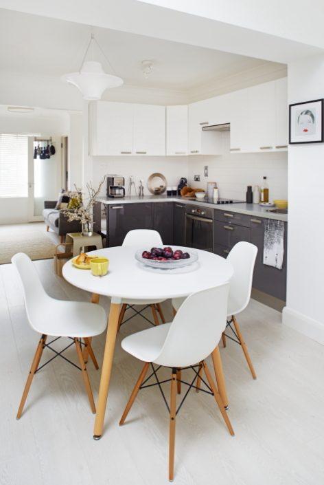 Bright scandinavian style kitchen in Maija's house