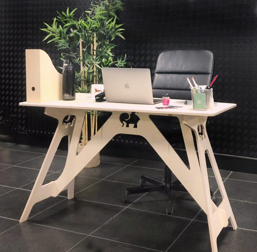 The home office desk that stores flat under the sofa!