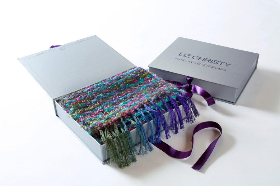 Win a fabulous luxury wrap from handweaver Liz Christy!